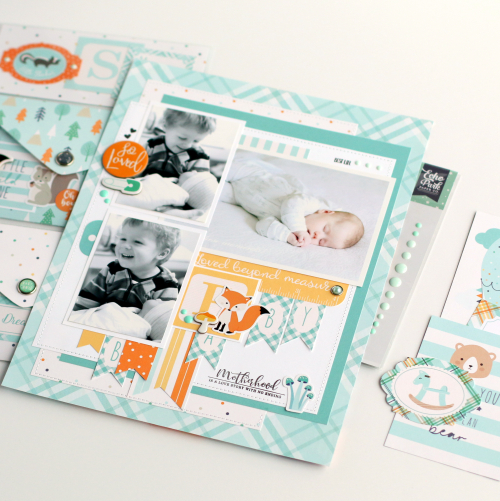"""Baby Boy layout by Anya Lunchenko featuring the """"Hello Baby Boy"""" collection by #EchoParkPaper"""