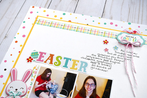 "Easter layout by Suzanna Lee for #EchoParkPaper featuring the ""Easter Wishes"" collection"