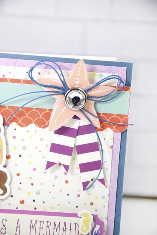 """Mermaid card by Tya Smith featuring the """"Mermaid Dreams"""" collection by #EchoParkPaper"""