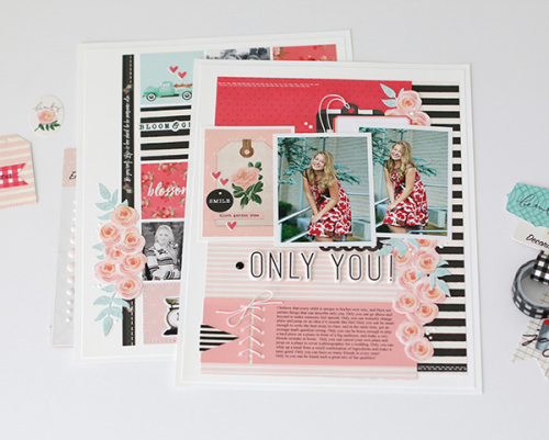 """Only You Layout by Anya Lunchenko featuring the """"Flower Market"""" collection by #CartaBellaPaper"""
