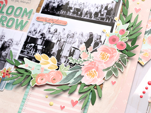 """Bloom & Grow layout by Jana Eubank featuring the """"Flower Market"""" collection by #CartaBellaPaper"""