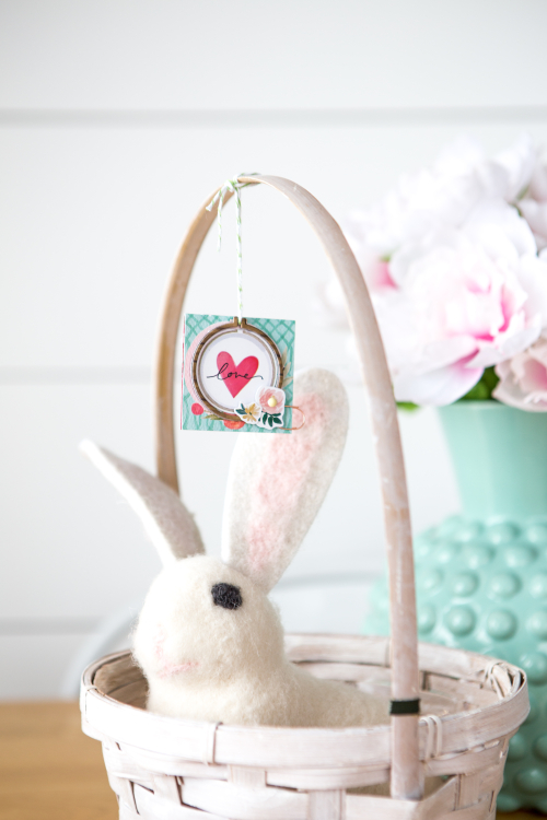 """Easter Basket Tags by Megan Hoeppner featuring the """"Flower Market"""" collection by #CartaBellaPaper"""