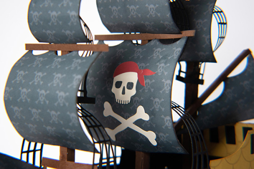 "Pirate Ship by Michelle Zerull featuring the ""Pirate Tales"" collection by #EchoParkPaper"