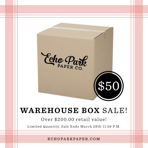 Warehouse Box Sale March 27th