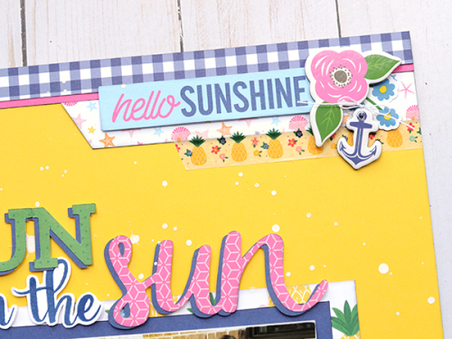 "Fun in the Sun layout by Jana Eubank featuring the ""I Love Summer"" Collection by #EchoParkPaper"