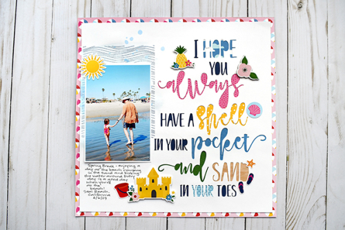 "Summer layout by Suzanna Lee featuring the ""I Love Summer"" Collection by #EchoParkPaper"