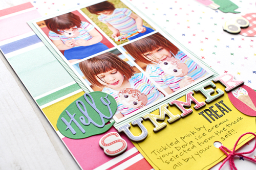 "Hello Summer Treat layout by Suzanna Lee featuring ""Best Summer Ever"" by #EchoParkPaper"