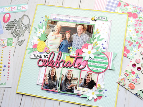 """Celebrate"" layout by Jana Eubank featuring the ""Best Summer Ever"" collection by #EchoParkPaper"