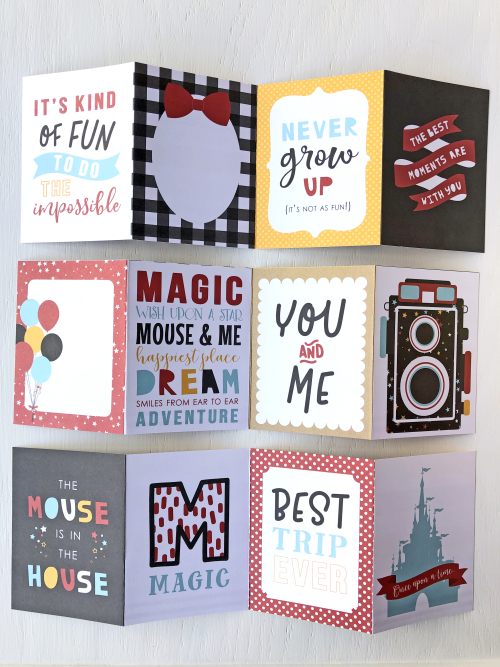 "Disney Mini Album by Megan Hoeppner featuring the ""Magical Adventure 2"" collection and Travelers Notebook from #EchoParkPaper-album_pic10"