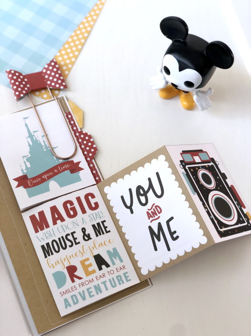 "Disney Mini Album by Megan Hoeppner featuring the ""Magical Adventure 2"" collection and Travelers Notebook from #EchoParkPaper"