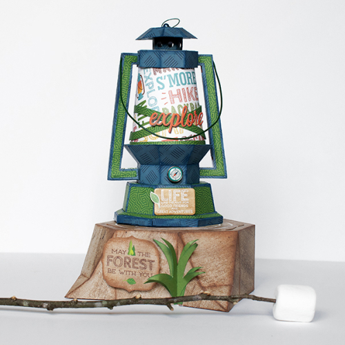 "Adventure Lantern by Michelle Zerull featuring the ""Summer Adventure"" collection by #EchoParkPaper"