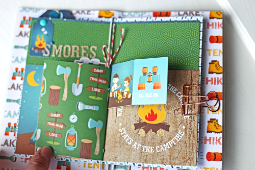 "DIY Traveler's Notebook and Inserts by Megan Hoeppner featuring the ""Summer Adventure"" collection by #EchoParkPaper"