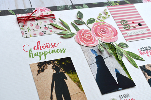 "Choose Happiness layout by Suzanna Lee featuring the ""Botanical Garden"" collection from #CartaBellaPaper"