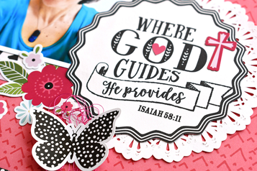 "Where God Guides Layout by Suzanna Lee featuring the ""Forward with Faith"" collection by #EchoParkPaper"