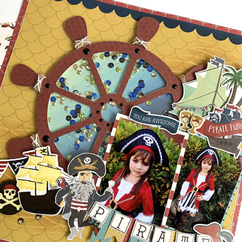 "Awesome Pirate scrapbook layout by Dorymar Perez featuring the ""Pirate"" collection by #EchoParkPaper"