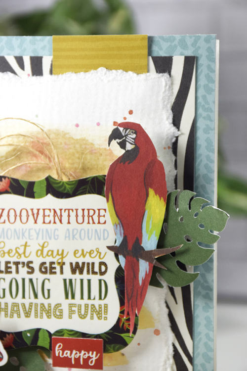 """Zooventure"" card by Tya Smith for #EchoParkPaper featuring the ""Animal Safari"" Collection"