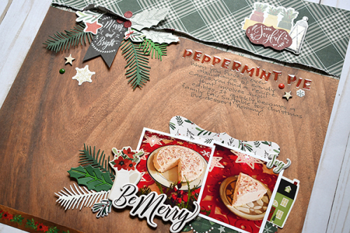"Peppermint Pie Layout by Suzanna Lee featuring the ""A Cozy Christmas"" Collection by #EchoParkPaper"