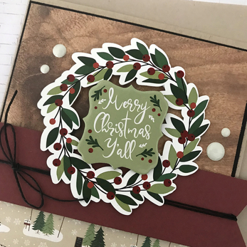 """A Cozy Christmas"" Card Quad by Tya Smith for #EchoParkPaper"