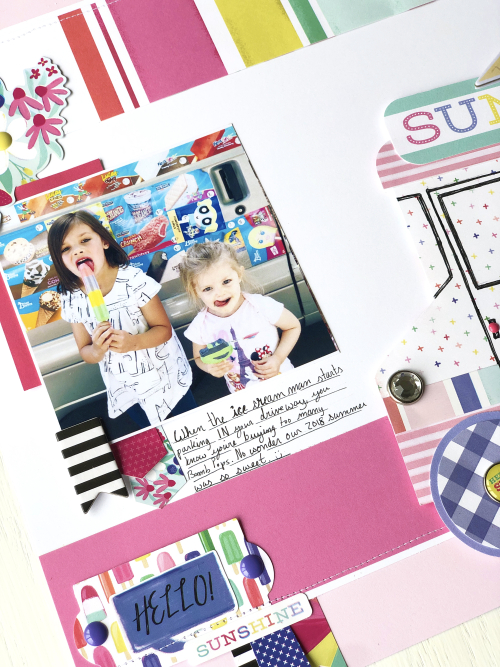 "Ice Cream Truck layout by Megan Hoeppner for #EchoParkPaper featuring the ""Best Summer Ever"" Collection"