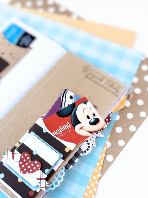"Disney Mini Album by Megan Hoeppner featuring the ""Magical Adventure 2"" collection and Travelers Notebook from #EchoParkPaper-album_pic1a"