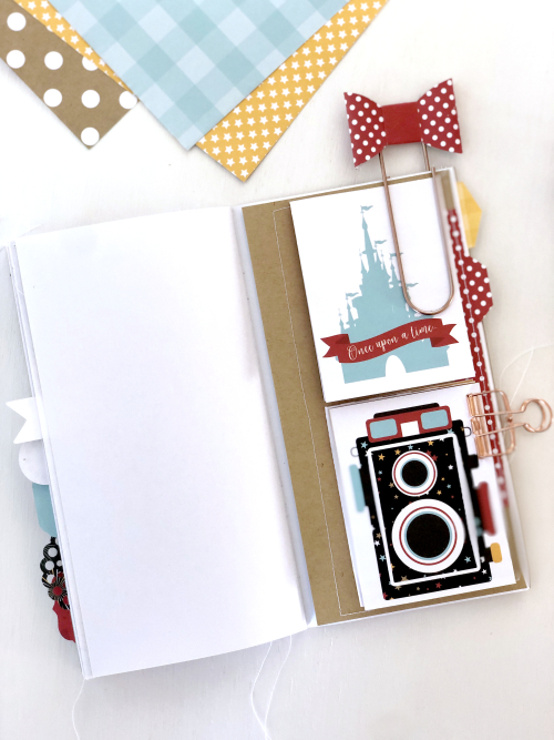 "Disney Mini Album by Megan Hoeppner featuring the ""Magical Adventure 2"" collection and Travelers Notebook from #EchoParkPaper-album_pic11"
