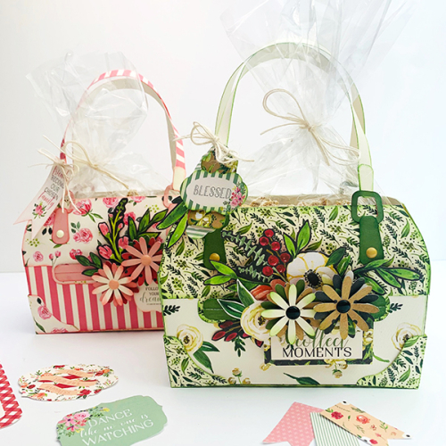 "Paper Floral Purses by Dorymar Perez featuring the ""Botanical Garden"" Collection from #CartaBellaPaper"