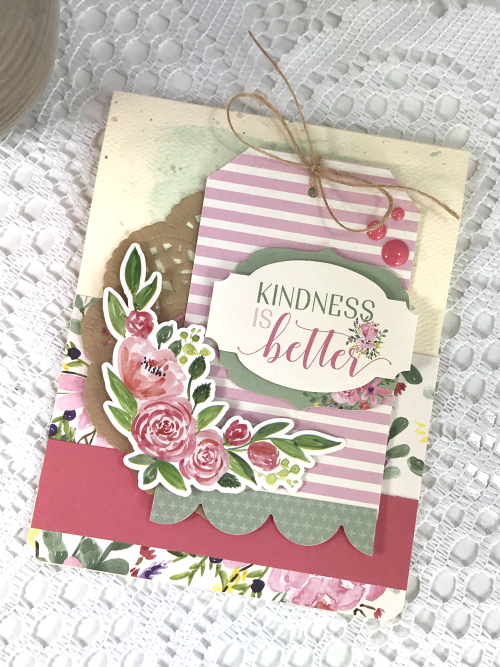"Kindness is Better card by Tya Smith featuring the ""Botanical Garden"" Collection by #CartaBellaPaper"
