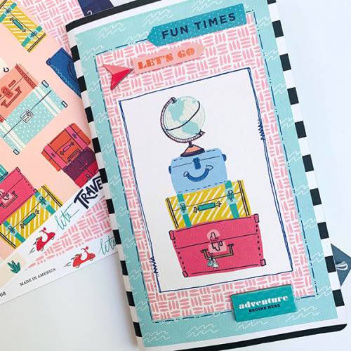 "Travelers Notebook by Dorymar Perez featuring the ""Let's Travel"" collection by #CartaBellaPaper"