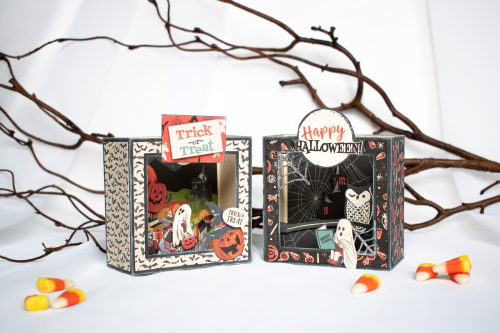 """Happy Halloween"" Box Scene Cards by Michelle Zerull for #CartaBellaPaper"