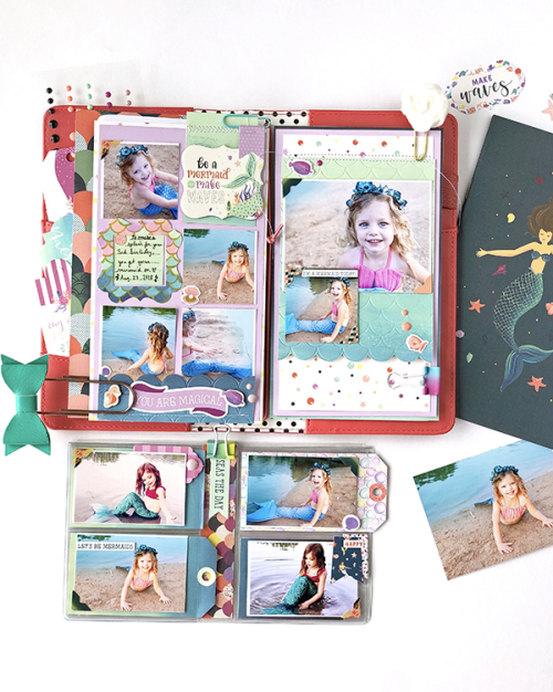 "Travelers Notebook Project by Megan Hoeppener featuring the ""Mermaid Dreams"" collection by #EchoParkPaper"