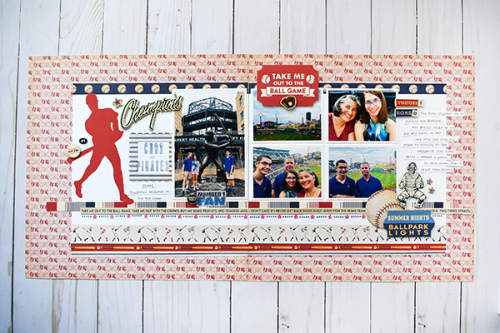 Baseball layout by Suzanna Lee for #CartaBellaPaper