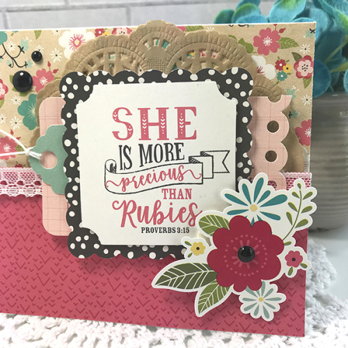 "More Precious than Rubies card by Tya Smith featuring the ""Forward with Faith"" collection by #EchoParkPaper"