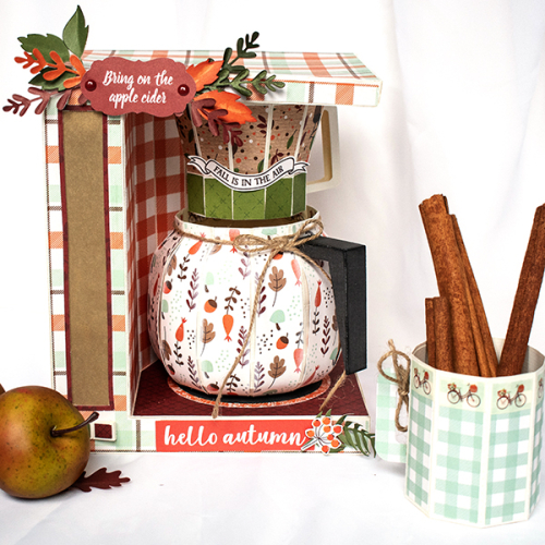 "Apple Cider Brewing Station by Michelle Zerull for #EchoParkPaper featuring the ""My Favorite Fall"" Collection"