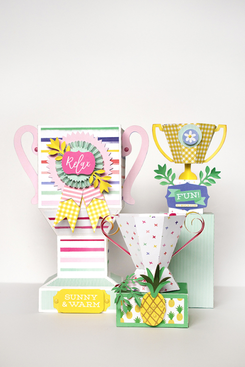 """Best Summer Ever"" award trophies by Michelle Zerull for #EchoParkPaper"