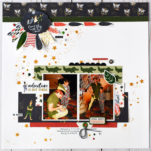 "Come Fly With Me layout by Suzanna Lee featuring the ""Lost in Neverland"" collection by #EchoParkPaper"