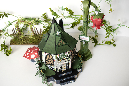 "Tinkerbell's Magical Hideaway by Michelle Zerull featuring the ""Lost in Neverland"" collection by #EchoParkPaper"