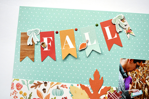 "Two Page Fall layout by Suzanna Lee featuring the ""Fall Market"" collection by #CartaBellaPaper"