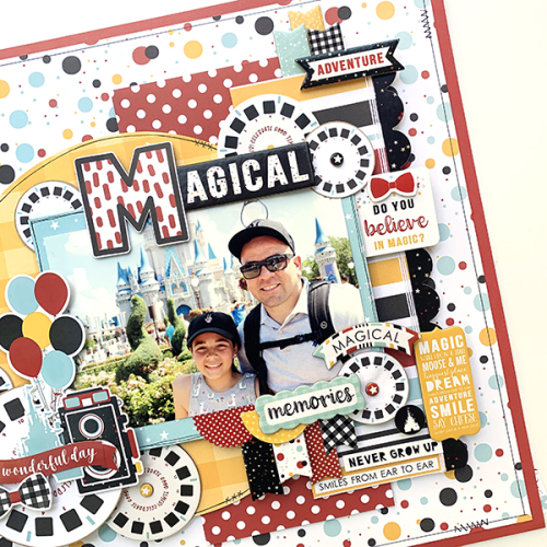 "Magical Disney layout by Dorymar Perez featuring the ""Magical Adventure 2"" collection from #EchoParkPaper"