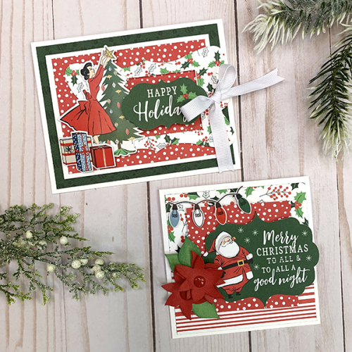 """Gift bag and cards by Dorymar Perez featuring the """"Merry Christmas"""" collection by #CartaBellaPaper"""