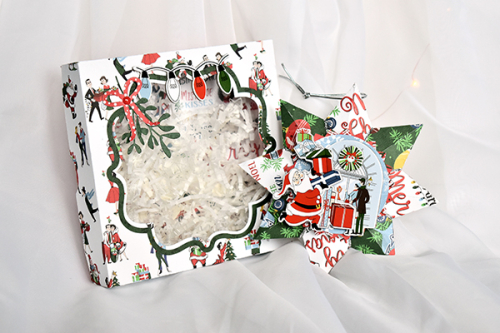 "Merry Christmas Ornament with Box by Michelle Zerull featuring the ""Merry Christmas"" Collection by #CartaBellaPaper"