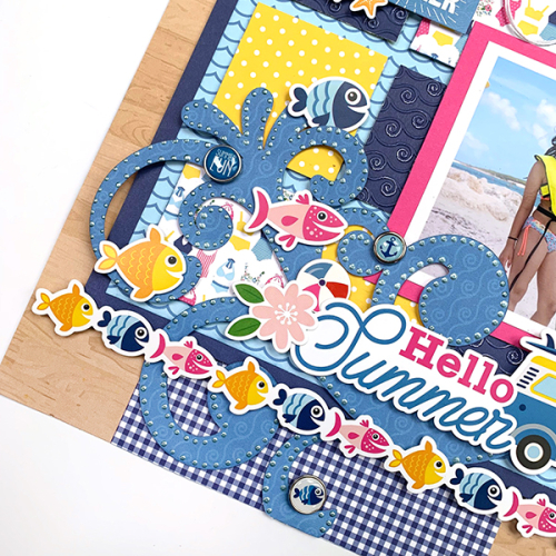 "Hello Summer layout by Dorymar Perez featuring the ""I Love Summer"" Collection by #EchoParkPaper"