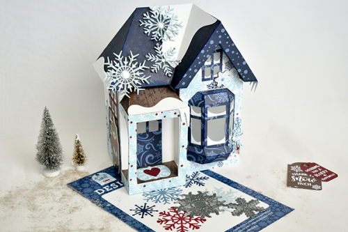 "Winter Cottage by Michelle Zerull featuring the ""My Favorite Winter"" collection by #EchoParkPaper"