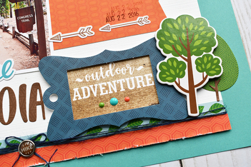 "Hiking layout by Suzanna Lee featuring the ""Summer Adventure"" collection by #EchoParkPaper"