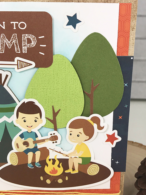 """Born to Camp card by Tya Smith featuring the """"Summer Adventure"""" collection"""