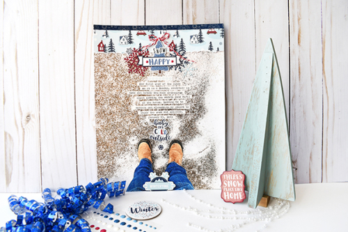 "Snow Happy layout by Suzanna Lee featuring the ""My Favorite Winter"" collection by #EchoParkPaper"