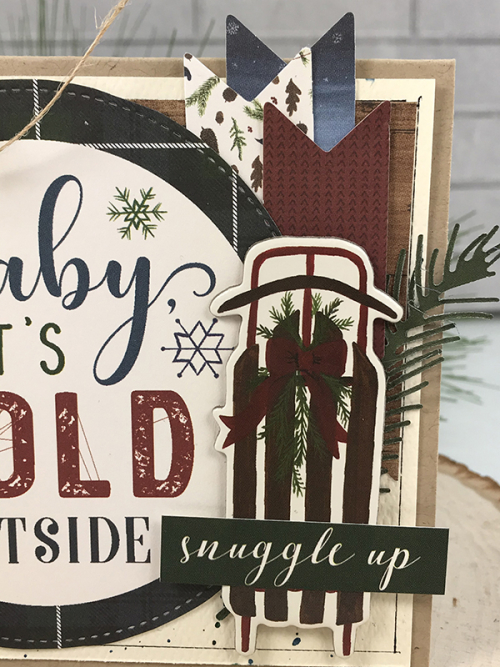 "Baby, it's cold outside - card by Tya Smith for #EchoParkPaper featuring the ""Warm & Cozy"" collection"