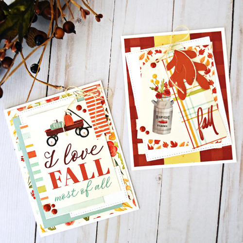 "Autumn Card Set by Wendy Sue Anderson featuring the ""Fall Market"" collection by #CartaBellaPaper"
