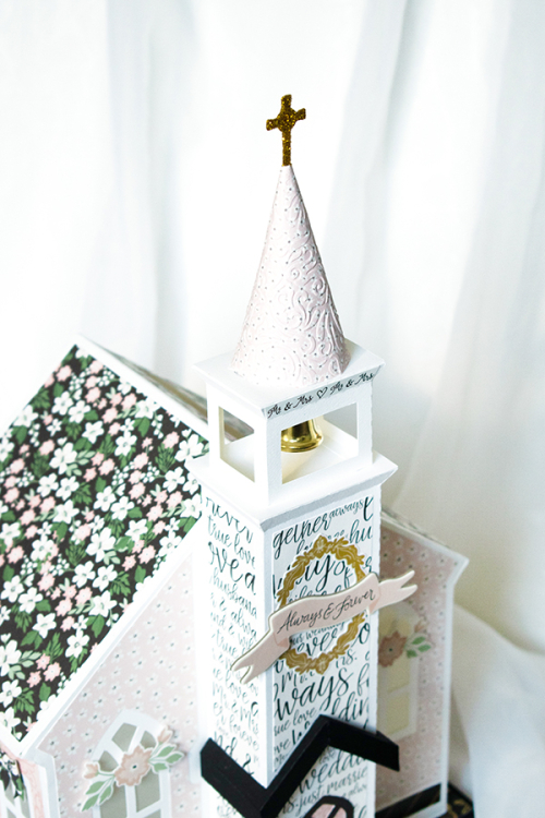 "Wedding Chapel by Michelle Zerull with ""Wedding Day"" by #EchoParkPaper Collection Michelle Zerull_blog"
