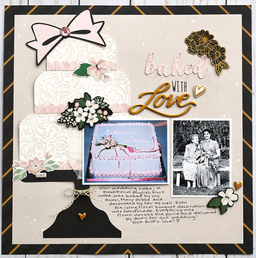 "Wedding Cake Layout by Suzanna Lee featuring the ""Wedding Day"" collection from #EchoParkPaper"