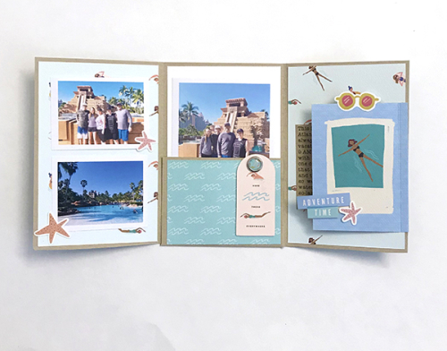 "Vacation Mini Album by Tya Smith featuring the ""Let's Travel"" Collection by #CartaBellaPaper"